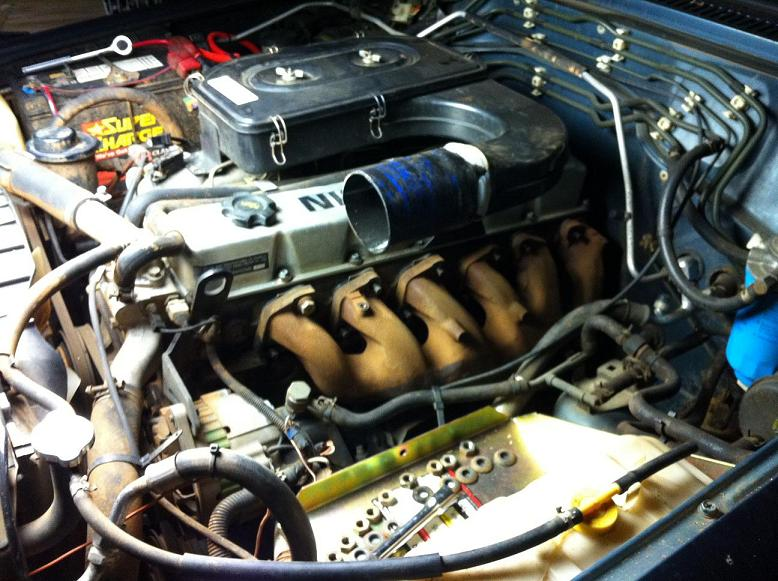 Fitting a genuine Nissan turbo to a N/A TD42 [Archive