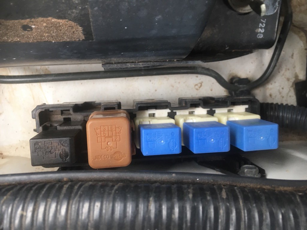 Passenger side relay box