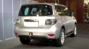 The rear side of the new 2010 Nissan Patrol